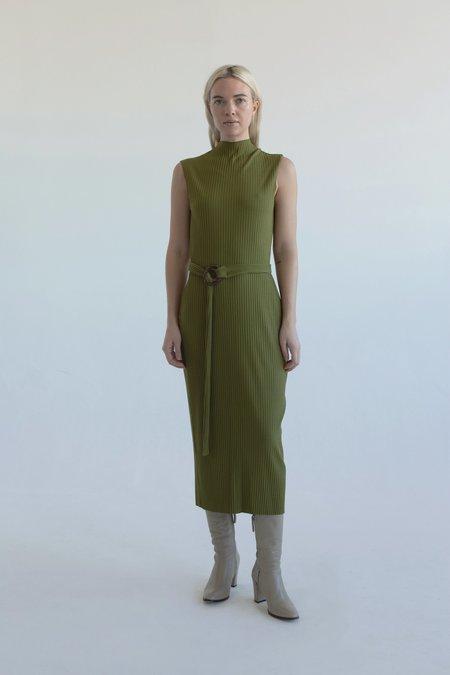 Vincetta Mock Neck Shift sweater - Moss