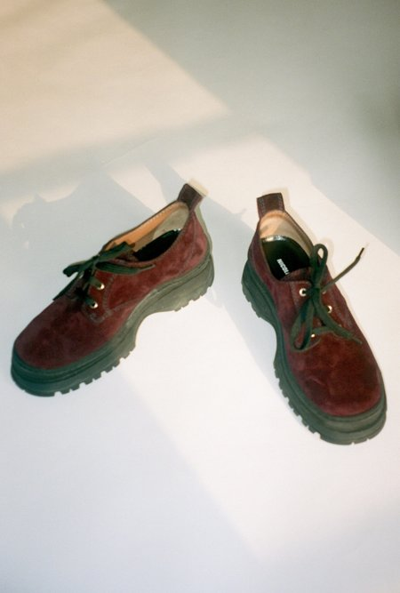 Nicole Saldana Jesse Sneakers - Burgundy Suede