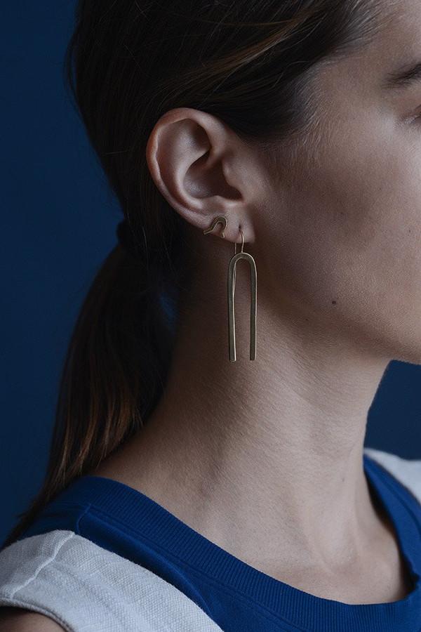 Seaworthy Jefa Earrings / Brass