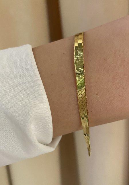 SS JEWELRY Herringbone Bracelet - 14K Gold