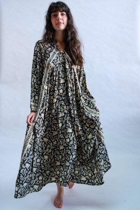 Natalie Martin Fiore Maxi dress - Black Autumn Silk