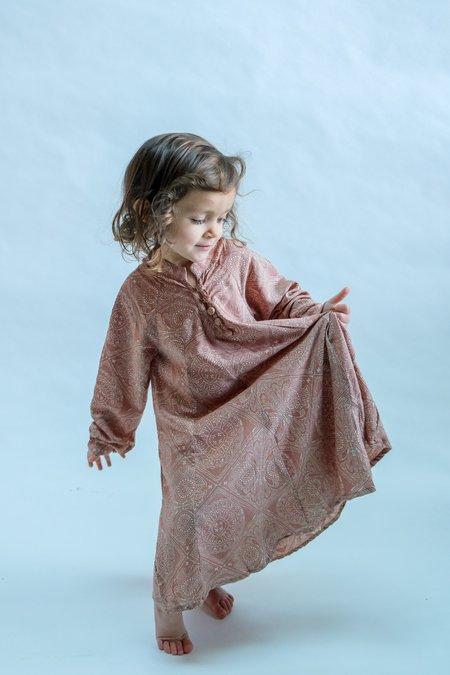 Kids Natalie Martin Fiore Maxi dress - Moroccan Tile Clay