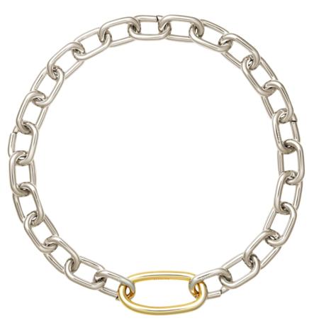 Machete Interchangeable Oval Link Necklace - Silver