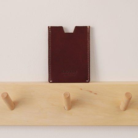 Salix Pond Accordion Card Case - Dark Brown