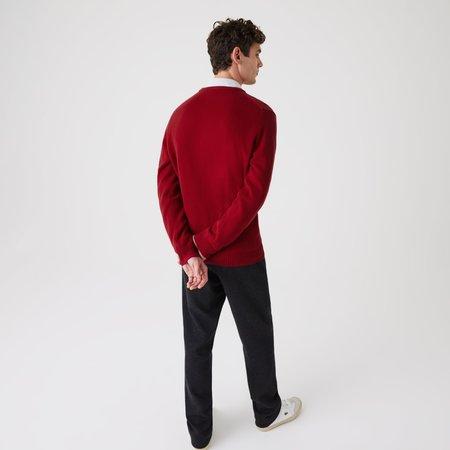 Lacoste Wool AH1988 Sweater Pullover - Bordeaux