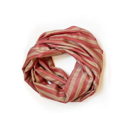 RUJUTA SHETH Stripe Scarf - Bold Red