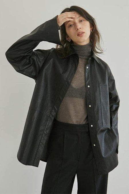 Cest la vie Vegan Leather Oversized Shirts