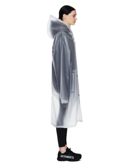 Vetements Limited Edition Printed Raincoat - Transparent