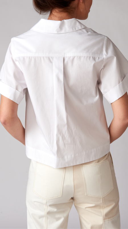 Matthew Bruch Safari Poplin Camp Shirt - White