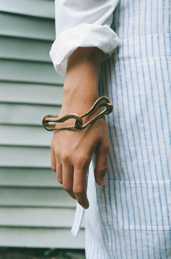 Faris Brass Link Bracelet