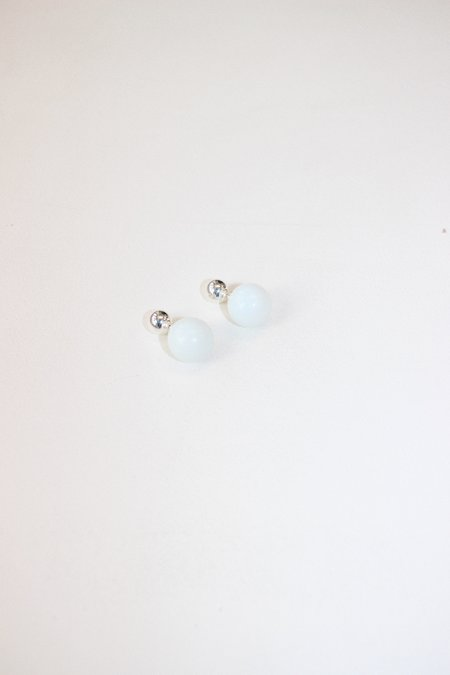 Yuun Staccato Ii Earrings - Opalite