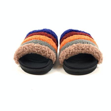 Roam Wears Brite Prism Slippers - fuzzy rainbow