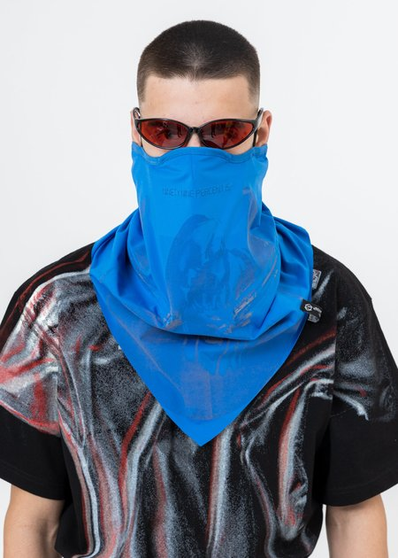 """99%is """"OUR FACE"""" Neckwarmer Scarves - Blue"""