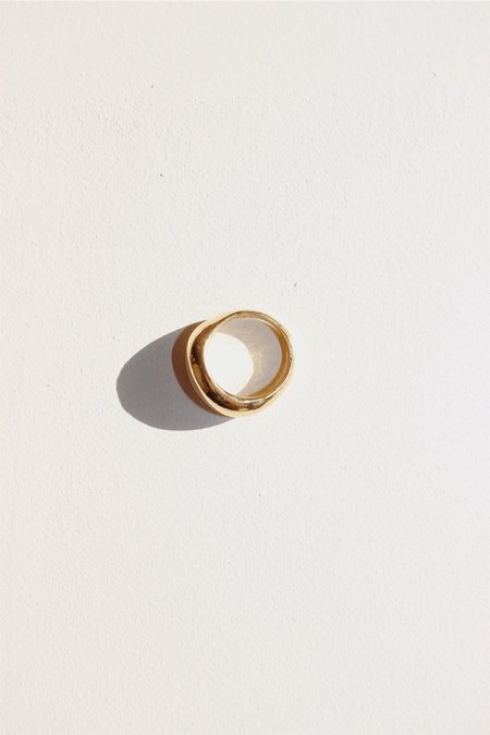 Unisex Swim To The Moon Siren Ring - 14k Gold Plated