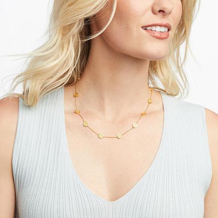 Julie Vos Valencia Delicate Station Necklace - 24k gold plate