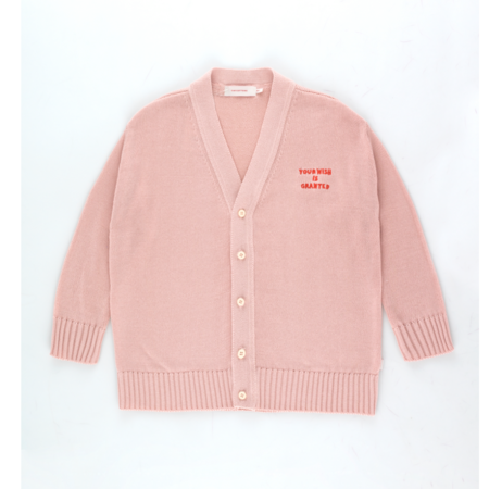 kids Tinycottons Your Wish Is Granted Cardigan - pink
