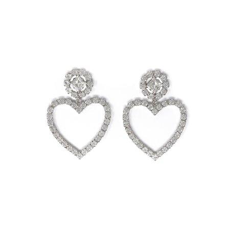 Joomi Lim Crystal Flower & Heart Earrings