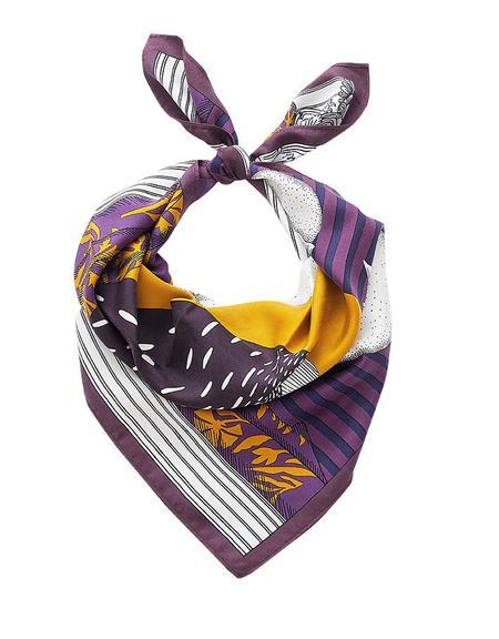 GASPARD SHOP Inouitoosh Madame Bon Silk Scarf - Purple