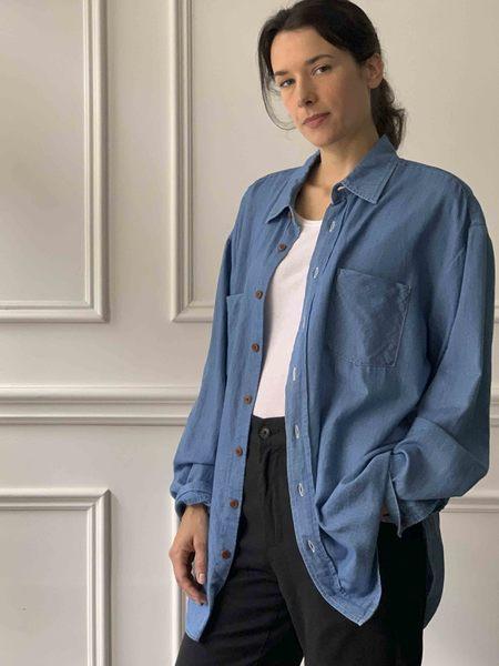 GASPARD SHOP MYTHINKS Soft Denim Shirt - Blue