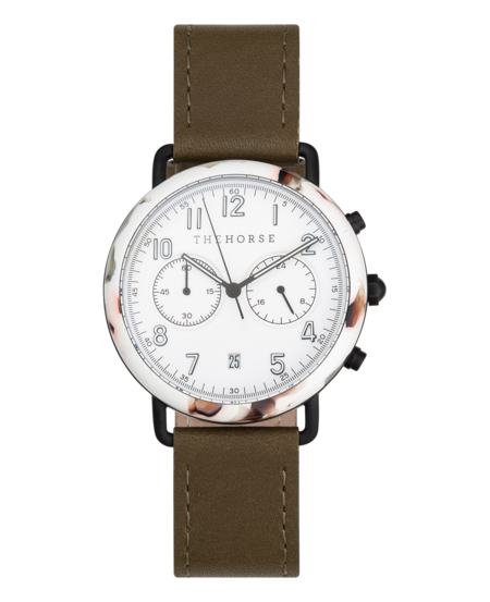 The Horse Mini Resin Chronograph Watch in Olive