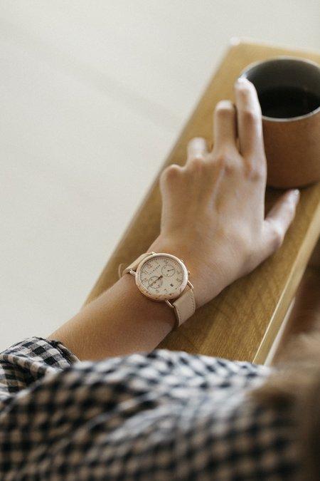 The Horse Mini Resin Chronograph Watch - Peach Speckle