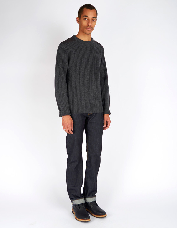 Men's Fjallraven Singi Knit Sweater Dark Grey
