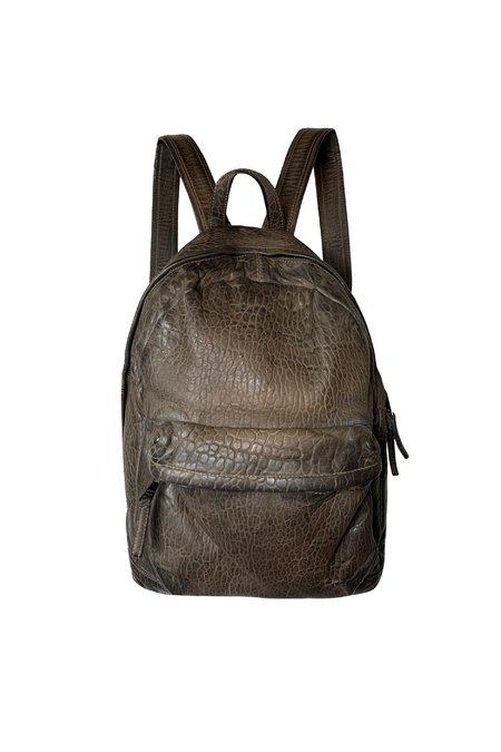 Giorgio Brato Pebbled Leather Backpack  - Cacao