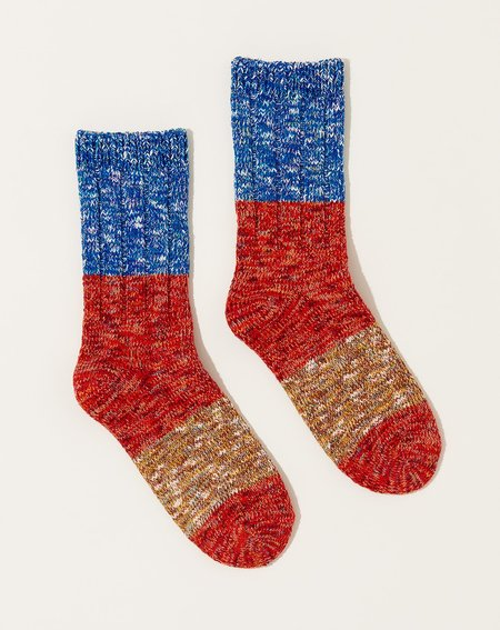 UNISEX Kapital Gogh Stretch Socks - Red
