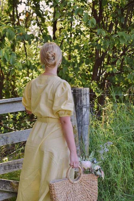 Barebones Puff Sleeve Dress