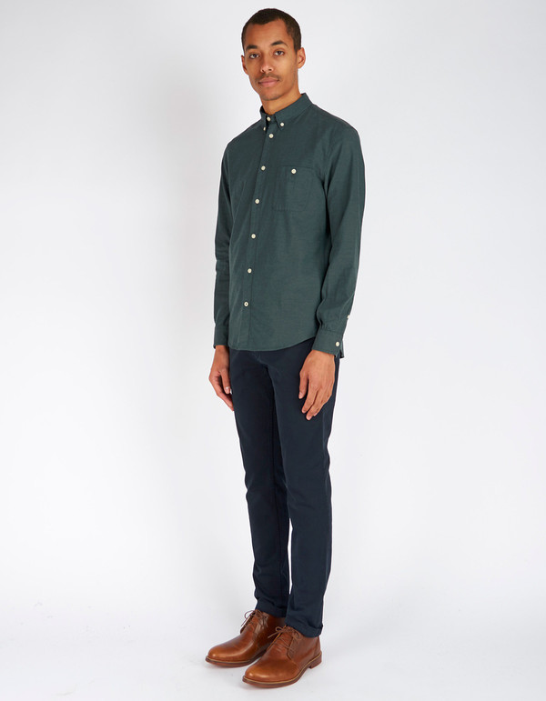 Men's No Nationality New Derek LS Flannel Shirt Green