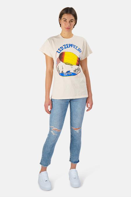 MadeWorn Rock Led Zeppelin North American Tour 1975 T-Shirt - White