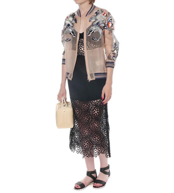 Shakuhachi Honeycomb Lace Dress