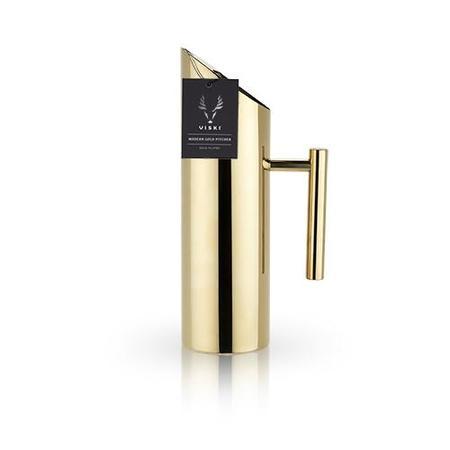 Viski Modern Gold Pitcher