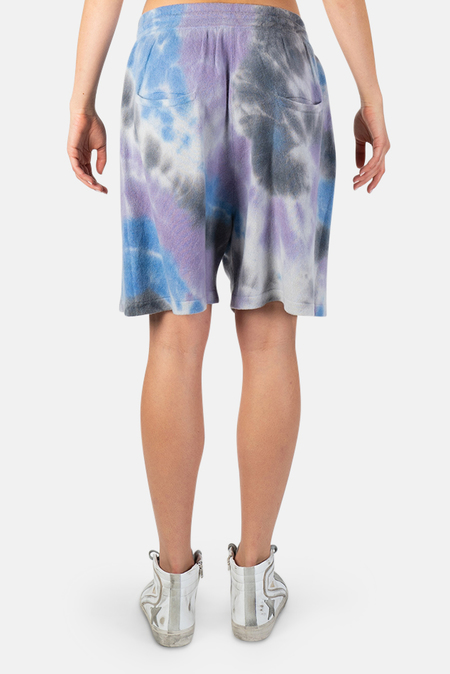 Harden Swirl Tie Dye Shorts - Lilac/Blue