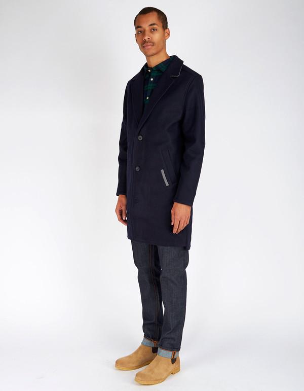 Men's Zanerobe Kaplan Melton Coat Navy
