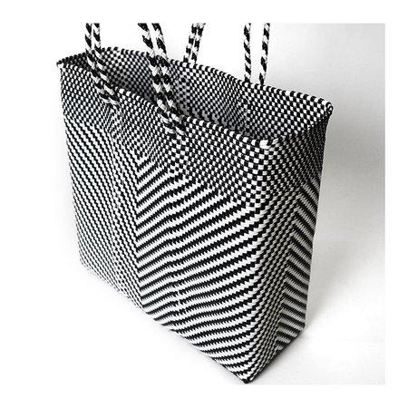 Letra Medium Espiga Mercado Bag - Black/white