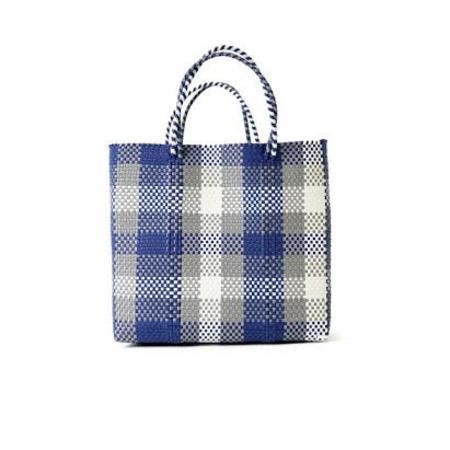 Letra Medium Mercado Bag - Navy Check