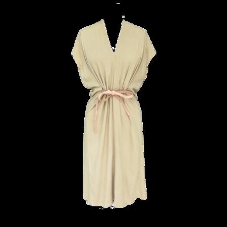 Miranda Bennett Petit Silk Knot Dress - Palomino