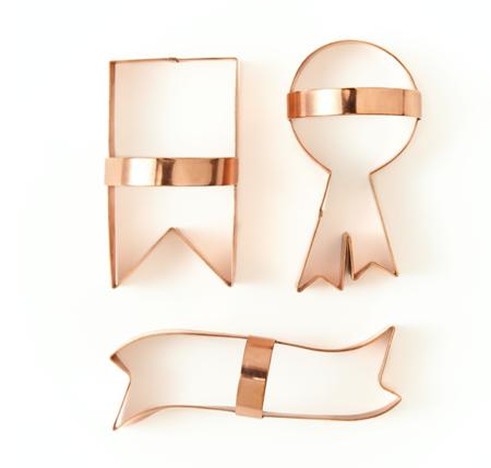 Sir/Madam Ribbon Cookie Cutters - copper