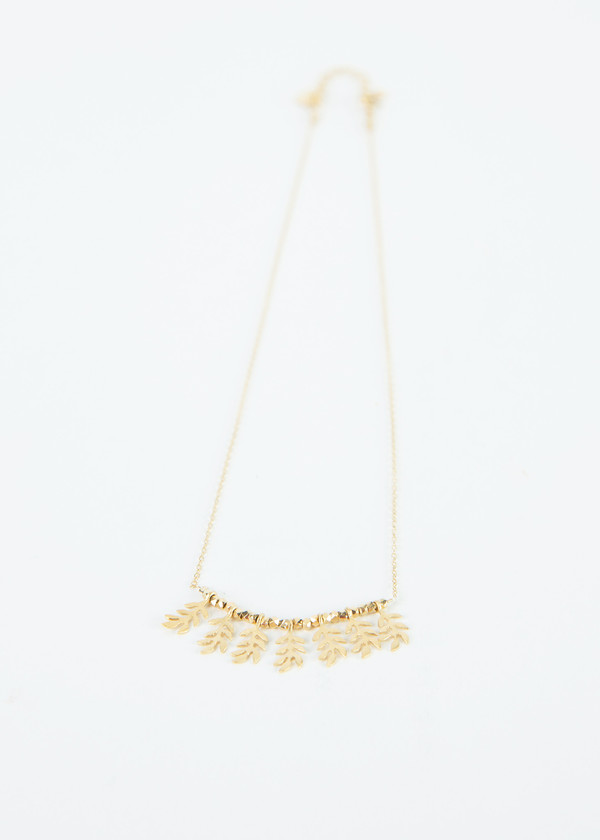 5 Octobre Tree Leaf Necklace