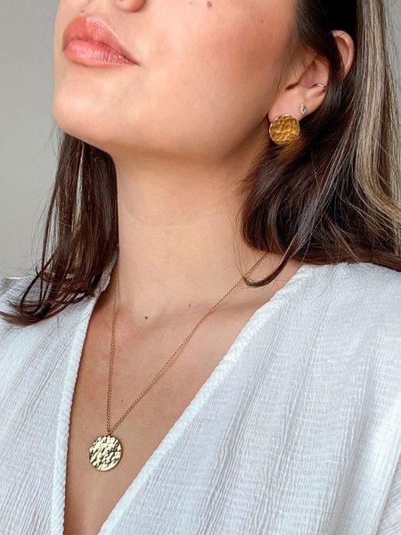 The CANO Shoe Alejandra Hammered Earrings - Gold