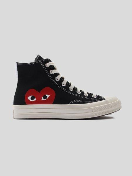 UNISEX Comme des Garçons Play Red Heart Converse Chuck All Star '70 High sneakers - black
