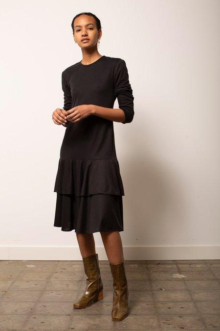 Vintage Drop-Waist Ruffle Dress