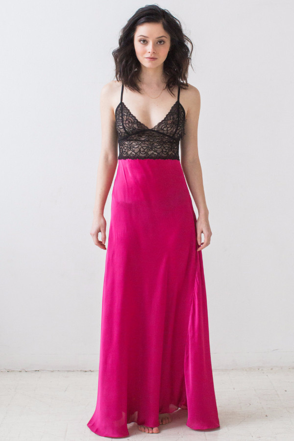 Salua Trinitaria Silk Poly Gown