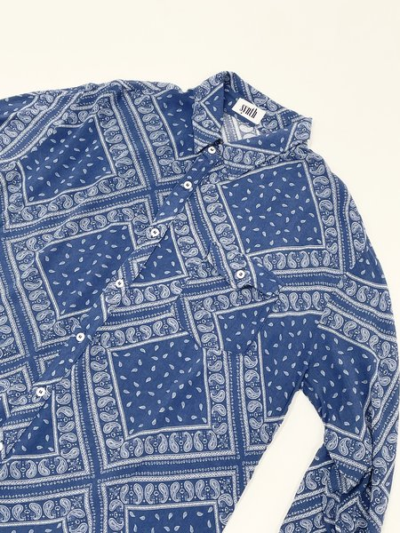 SYNTH Paisley Shirt - Blue