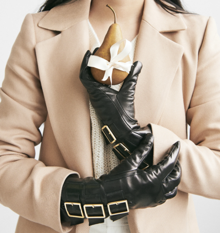 AMATO Buckle Gloves - Black