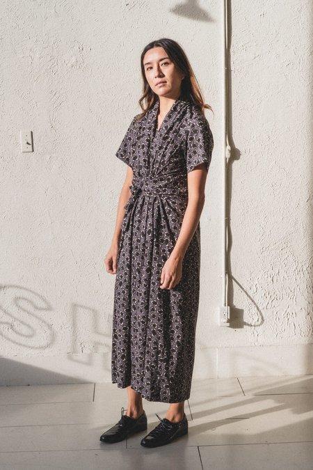 Caron Callahan Jocelyn Dress - Black Wool Floral