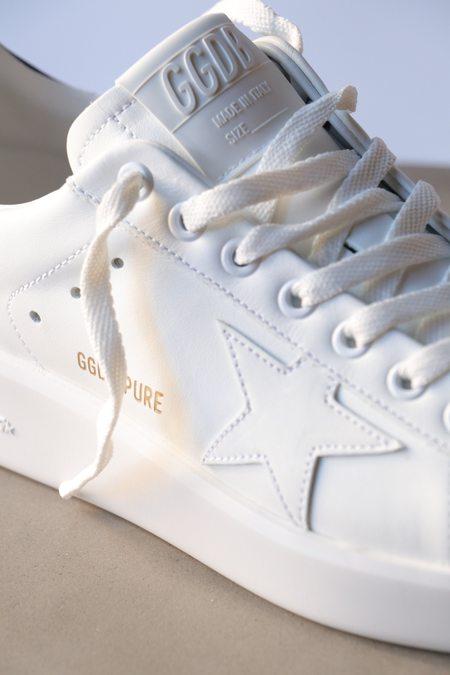 Golden Goose Purestar Sneaker - White/Black Heel