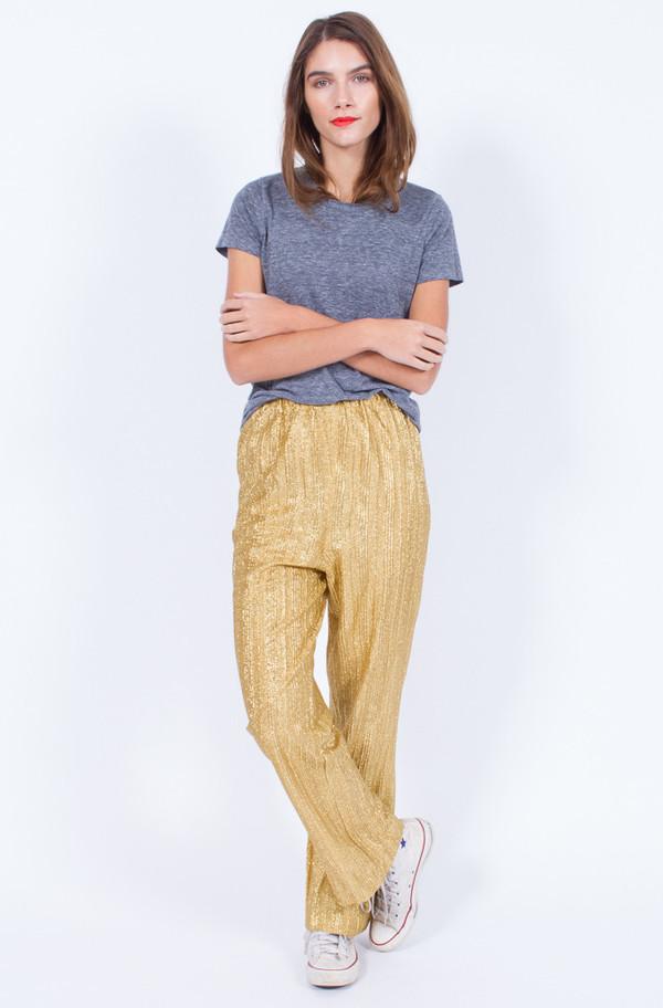 GOLD DISCO PANTS (MEDIUM)