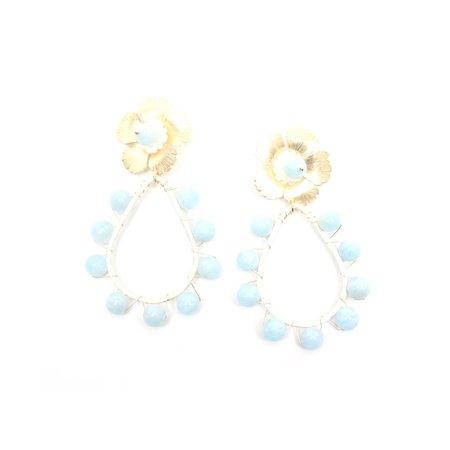 T Marie Designs Maddie Earrings - Aqua Marine